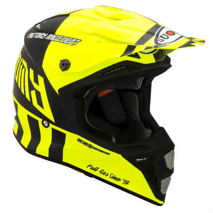 Mx Speed ​​Full Gas Yellow Fluo Helm Suomy