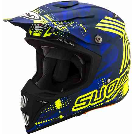 Mx Speed ​​Sergeant Matt Blue / Fluo Yellow Helm - X Suomy