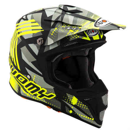 Mx Speed ​​Sergeant Matt Grey / YellowFluor Helm Suomy