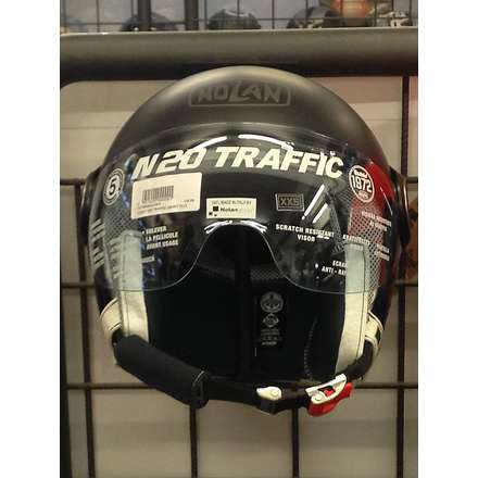 N 20 Traffic smart plus black Helmet  Nolan