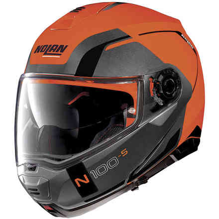 N100-5 Consistency N-Com Fluo orange Helmet Nolan