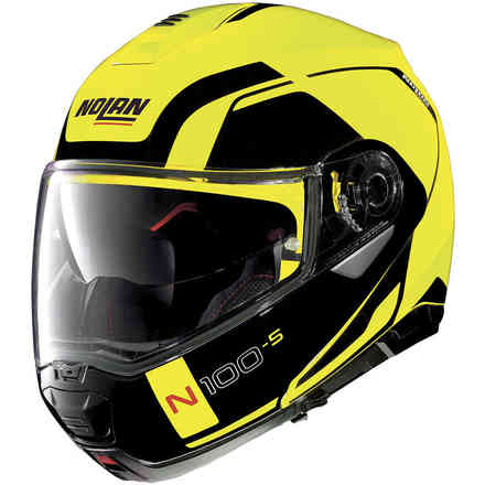 N100-5 Consistency N-Com Led Yellow Helmet Nolan