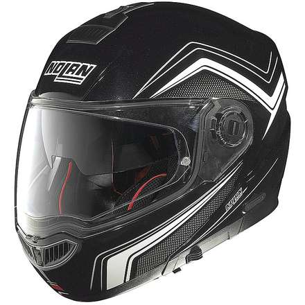 N104 Absolute Como N-Com metal black Helmet  Nolan