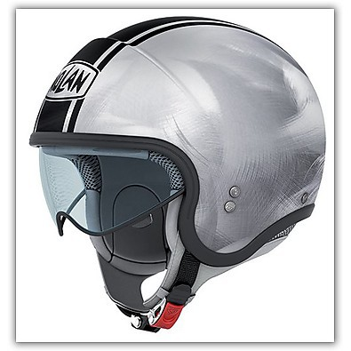 N21 Caribe Scratched Chrome Helmet Nolan