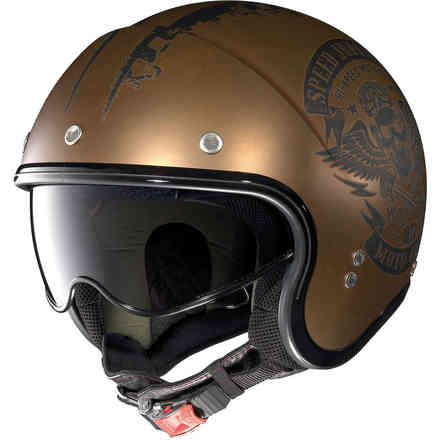 N21 Speed Junkies Scratched Flat Copper Helmet Nolan