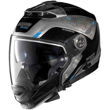 N44 Evo Viewpoint N-Com Scratched Chrome Helmet Nolan