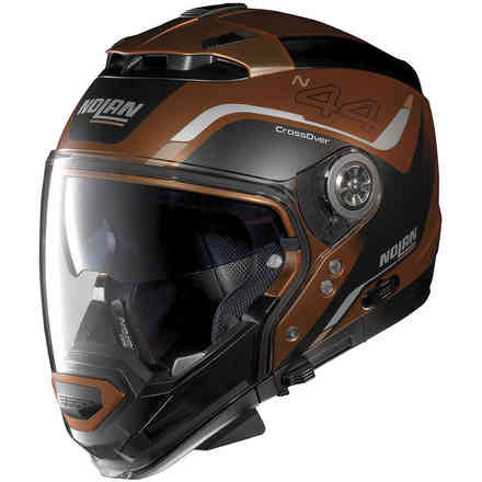 N44 Evo Viewpoint N-Com Scratched Flat Copper Helmet Nolan