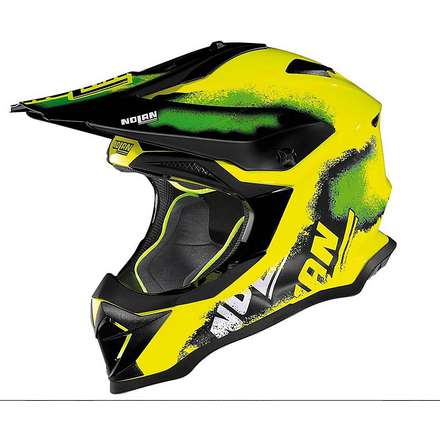 N53 Lazy Boy led yellow Helmet Nolan