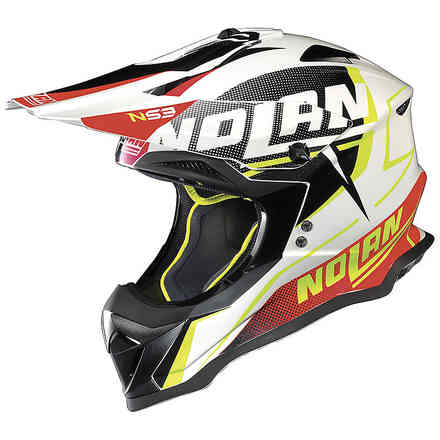 N53 Sidewinder Helmet White Black Red Nolan