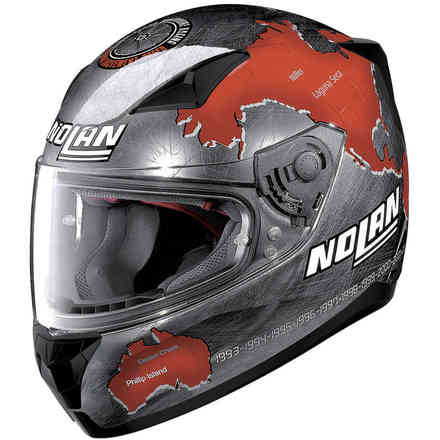 N60-5 Gemini Replica Checa Helmet Black Scratch Red Nolan