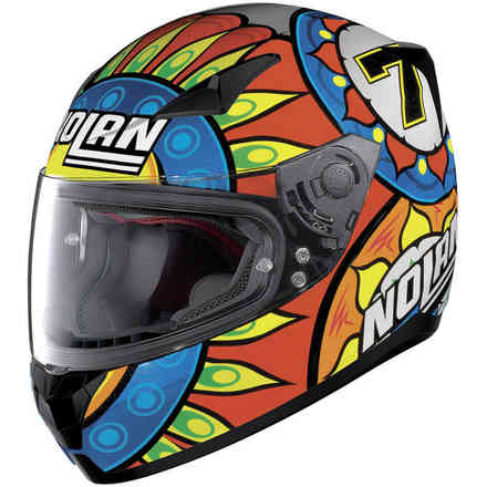 N60-5 Gemini Replica Davies Helmet Orange Blue Yellow Nolan