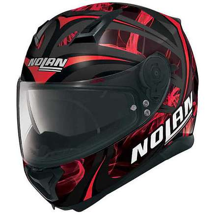 N87 Ledlight N-com red Helmet Nolan