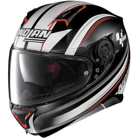 N87 Moto Gp N-Com Helmet Black White Red Nolan