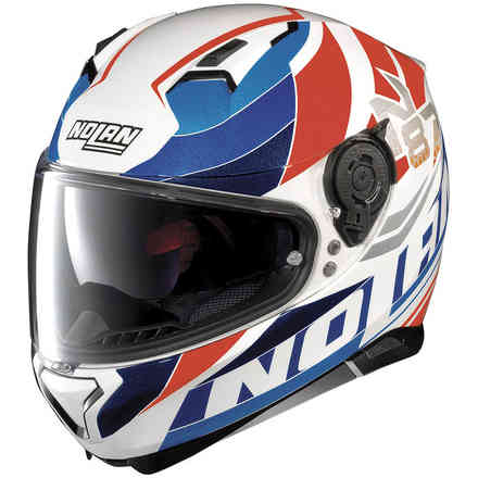 N87 Plein Air N-Com white blue red Helmet Nolan