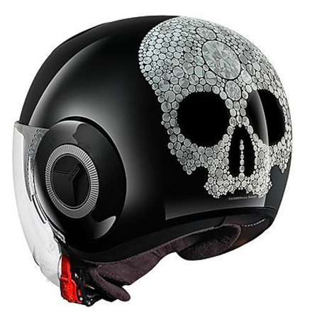 Nano Color Jewel Helmet black-silver glitter Shark