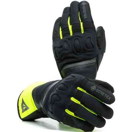 Nembo Gtx +Gore Grip Technology gloves black yellow fluo Dainese