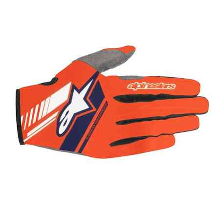 Neo glove Orange Fluo Dark Blue Alpinestars