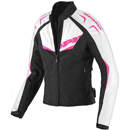 NW 200 Tex Black / Fuchsia Woman Jacket Spidi