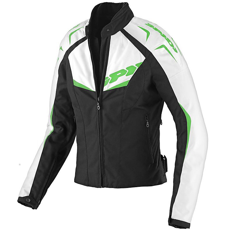 NW 200 Tex Black / Green Woman Jacket Spidi