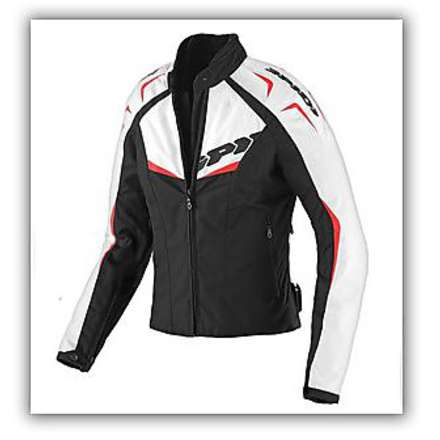 NW 200 Tex Black / Red Woman Jacket Spidi