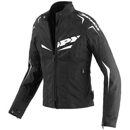 NW 200 Tex Black / White Woman Jacket Spidi