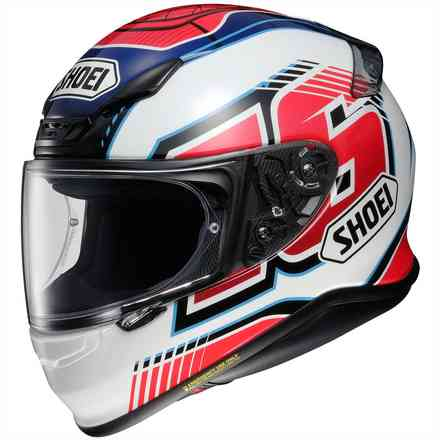 Nxr Cluzel Tc-1 Red helmet Shoei