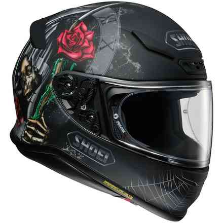 Nxr Dystopia Tc-5 Black Grey helmet Shoei