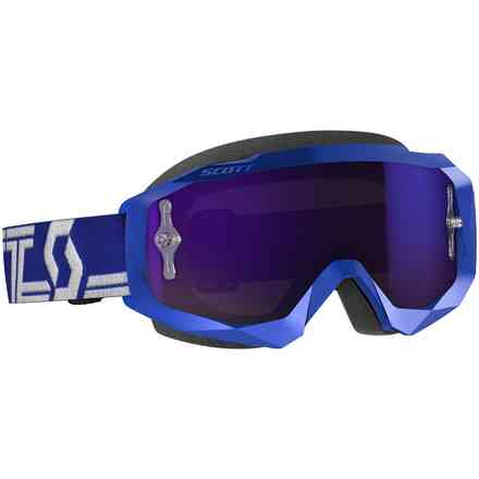 Occhiali Hustle X MX blu-bianco con lente purple chrome Scott