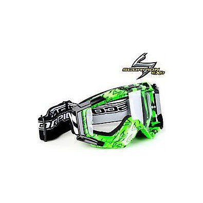 Occhiali off-road verde Scorpion