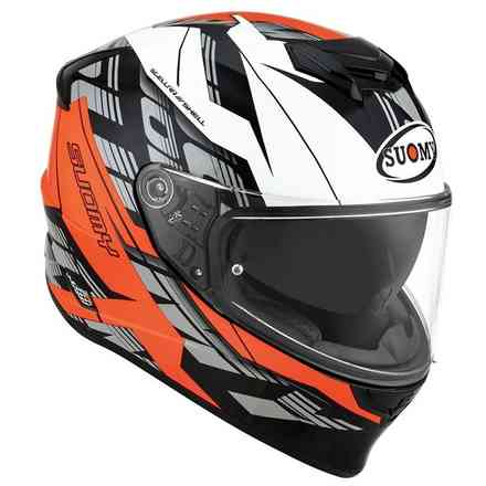 Orange Stellar Corner Helm Suomy