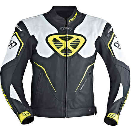 Orcus jacket black white yellow Ixon