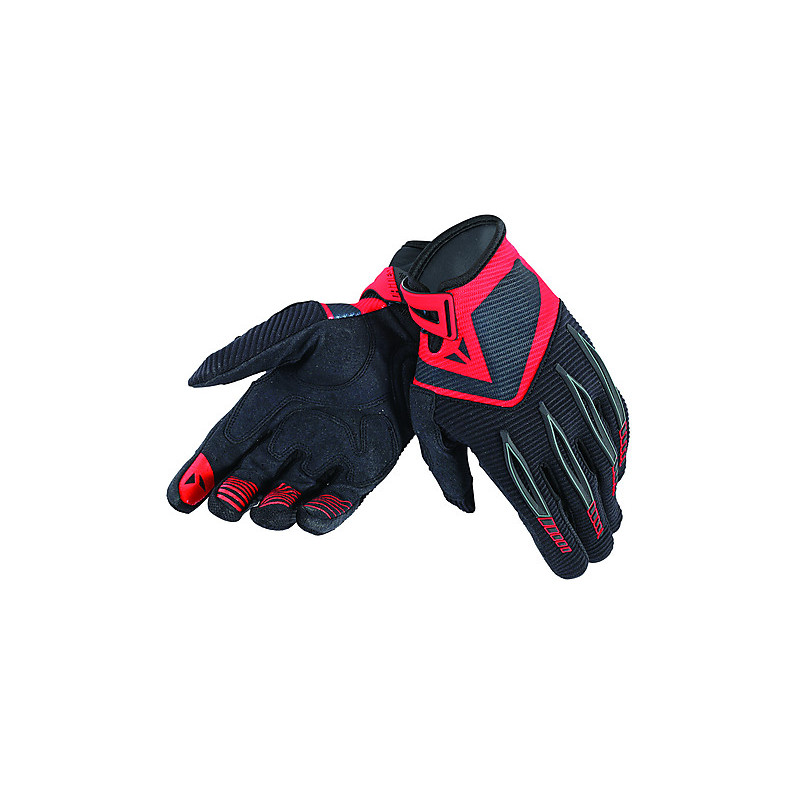 Paddock Gloves Black-Red Dainese