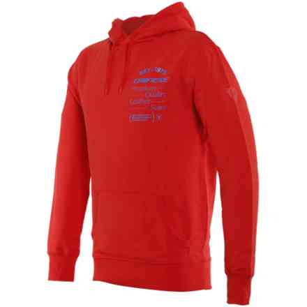 Paddock Hoodie  Lava-Red/Sky-Diver Dainese
