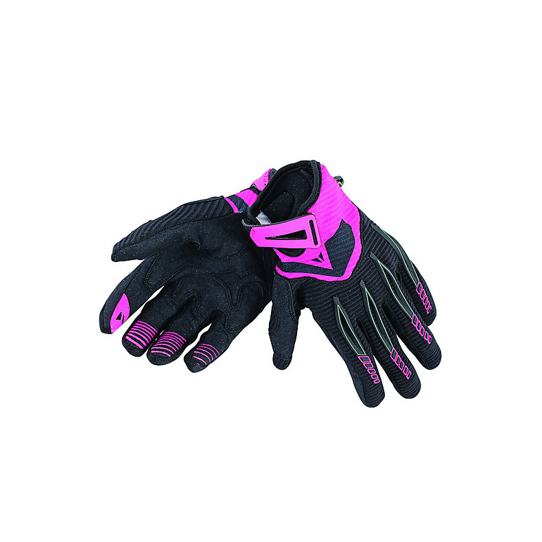 Paddock Lady Gloves Black-Pink Dainese
