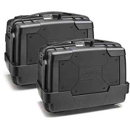 Pair of black 46lt Garda side cases KAPPA