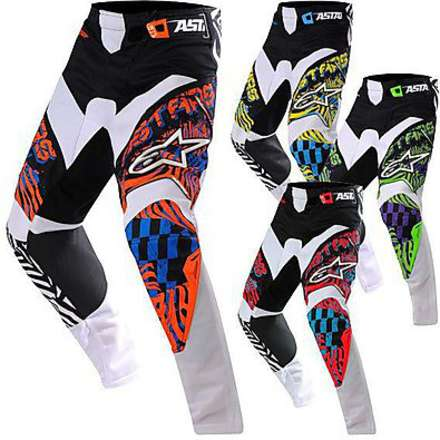 Pantalon Charger New orange-bleu-noir Alpinestars