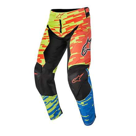 Pantalon cross Racer Braap 2016 jaune-bleu-lime Alpinestars