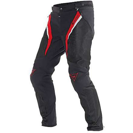 Pantalon Drake Super Air Tex noir-rouge-blanc Dainese