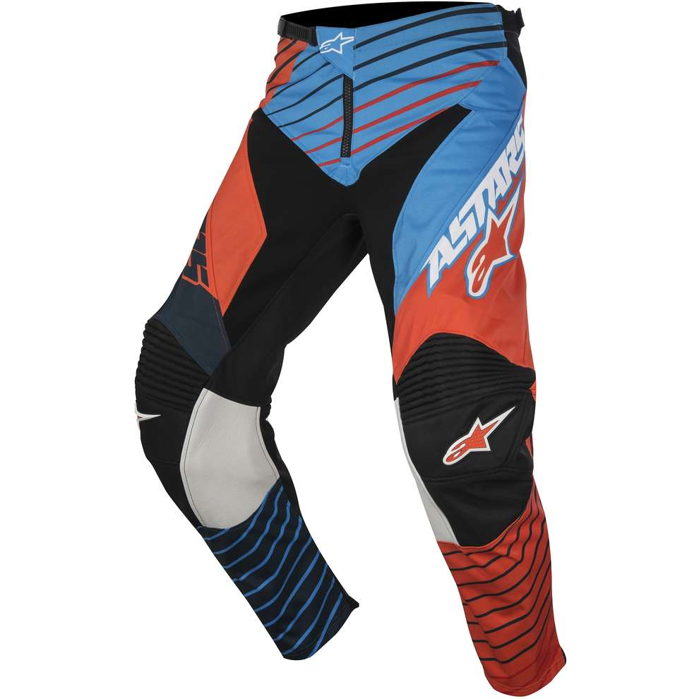 Pantalon Racer Braap 2017 bleu-orange Alpinestars