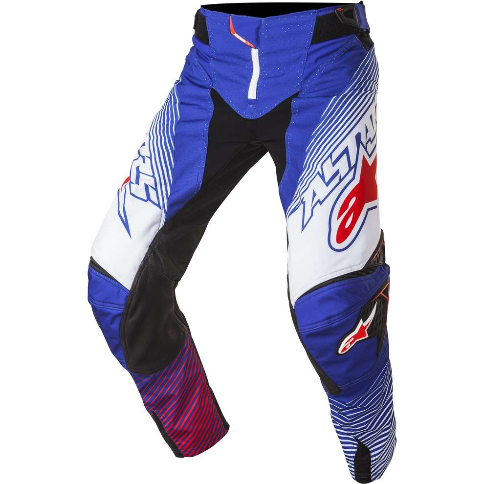 Pantalon Techstar cross bleu-blanc-rouge Alpinestars