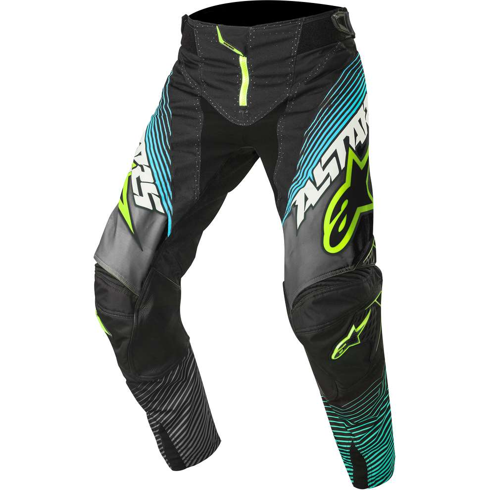 Pantalon Techstar cross noir-jaune fluo Alpinestars