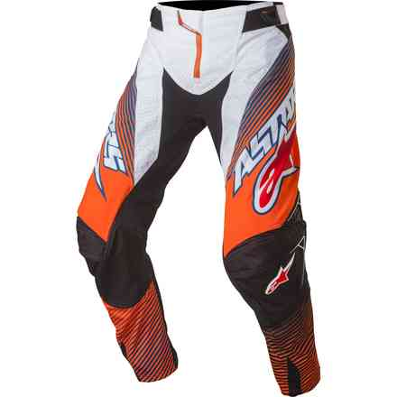 Pantalon Techstar cross orange fluo-bleu-blanc Alpinestars