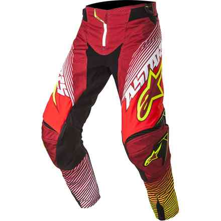 Pantalon Techstar cross rouge-jaune fluo Alpinestars
