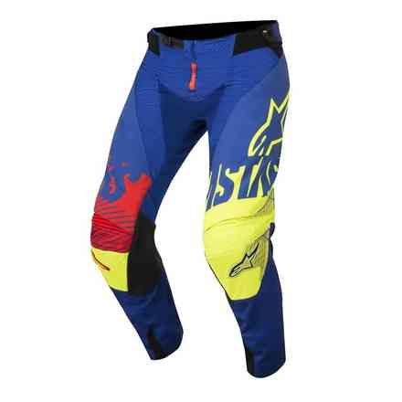 Pantalon Techstar Screamer Bleu jaune fluo rouge Alpinestars