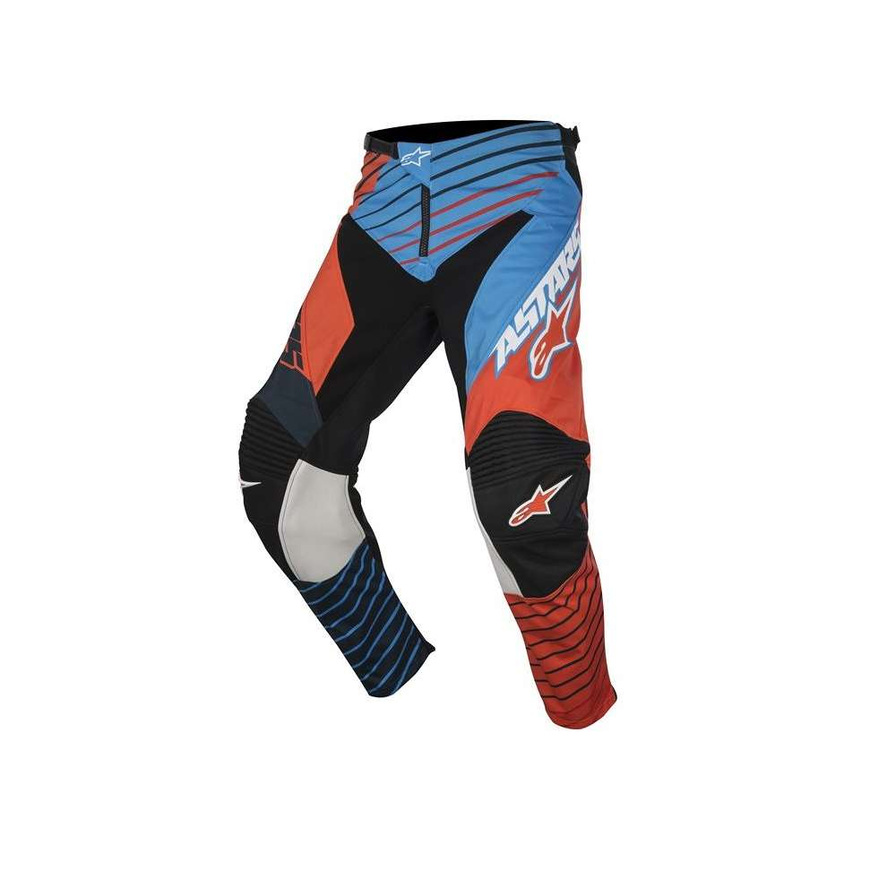 Pantalon Youth Racer Braap 2017 bleu orange Alpinestars