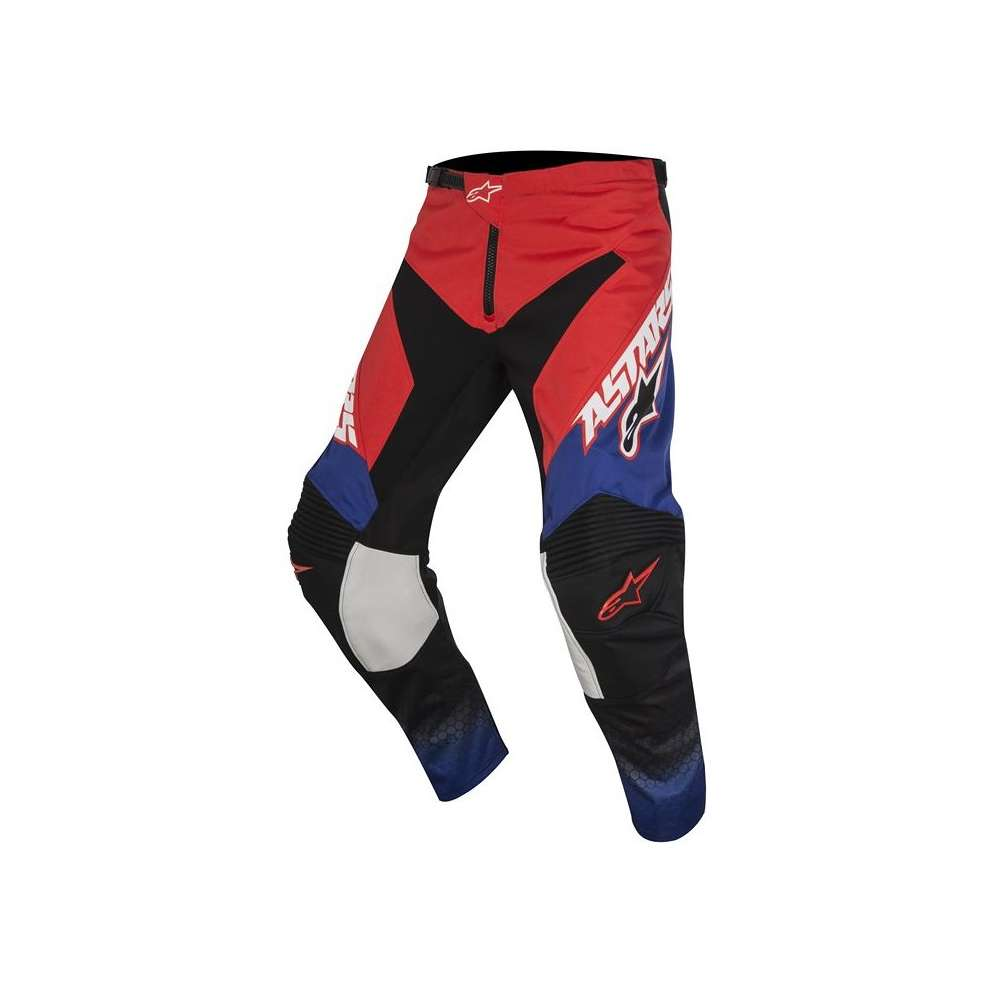 Pantalon Youth Racer Supermatic rouge bleu blanc Alpinestars