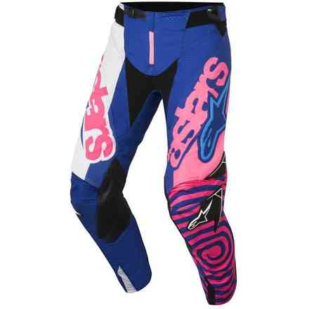 Pantalon Youth Racer Venom 2018 Blue rose fluo blanc Alpinestars