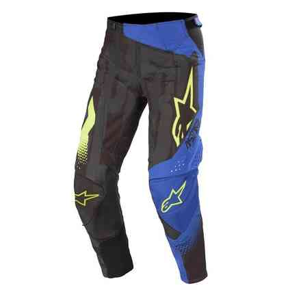 Pantalone Cross Techstar Factory nero blu scuro giallo fluo Alpinestars
