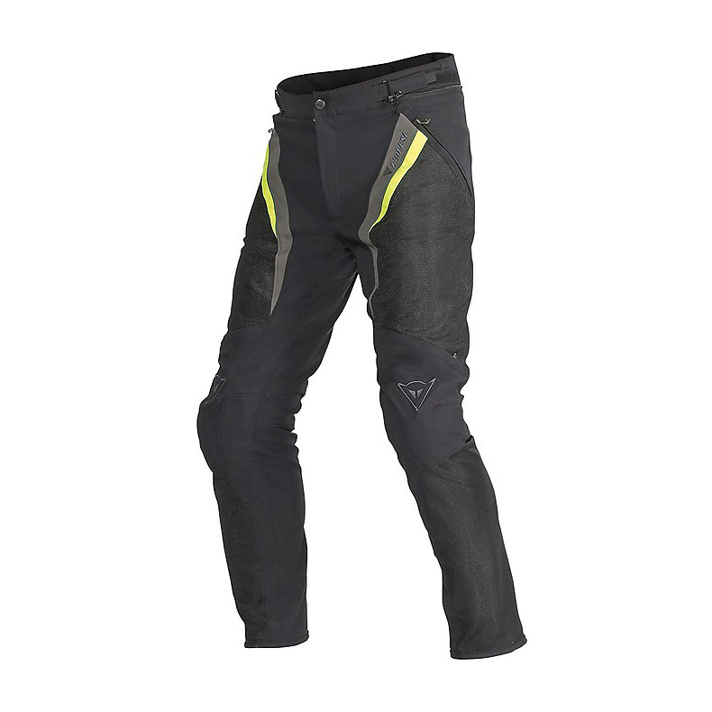 Pantalone Drake Super Air Tex nero-giallo-dark gull gray Dainese