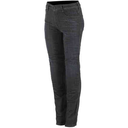 Pantaloni As-Dsl Ryu Tech Riding Denim Nero Alpinestars